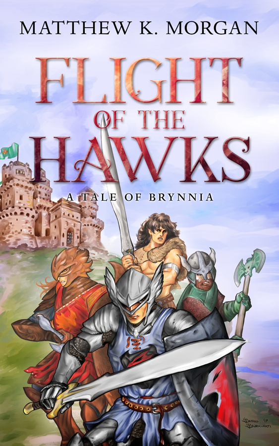 Illustrated Premade Book Covers : Flight of the hawks books covers art