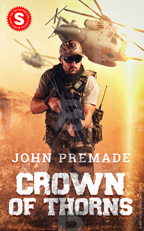 premade military action thriller book cvoer
