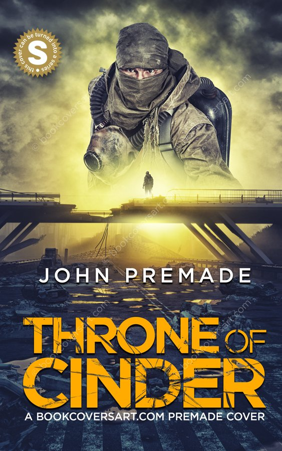 Post-Apocalyptic-Apocalypse-Premade-Book-Cover-Throne-of-Cinder