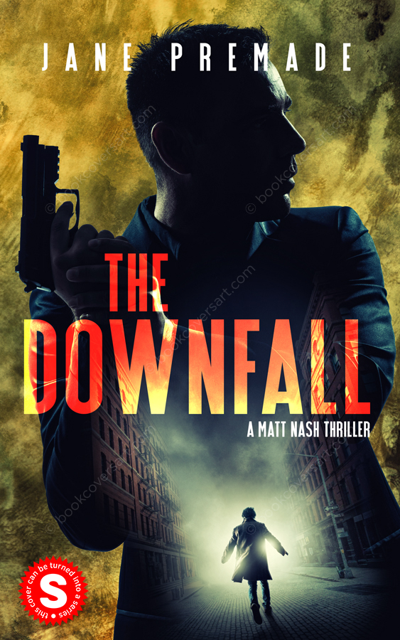 Suspense-Thriller-Premade-Book-Cover-The-Downfall