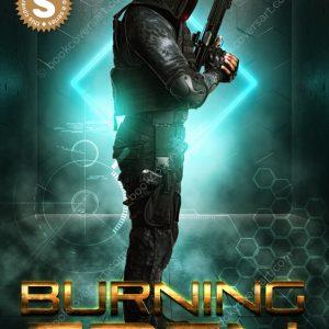 Military-Science-Fiction-GameLit-Game-Lit-Premade-Book-Cover-Burning-Eden