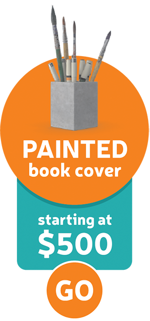 Painted book cover
