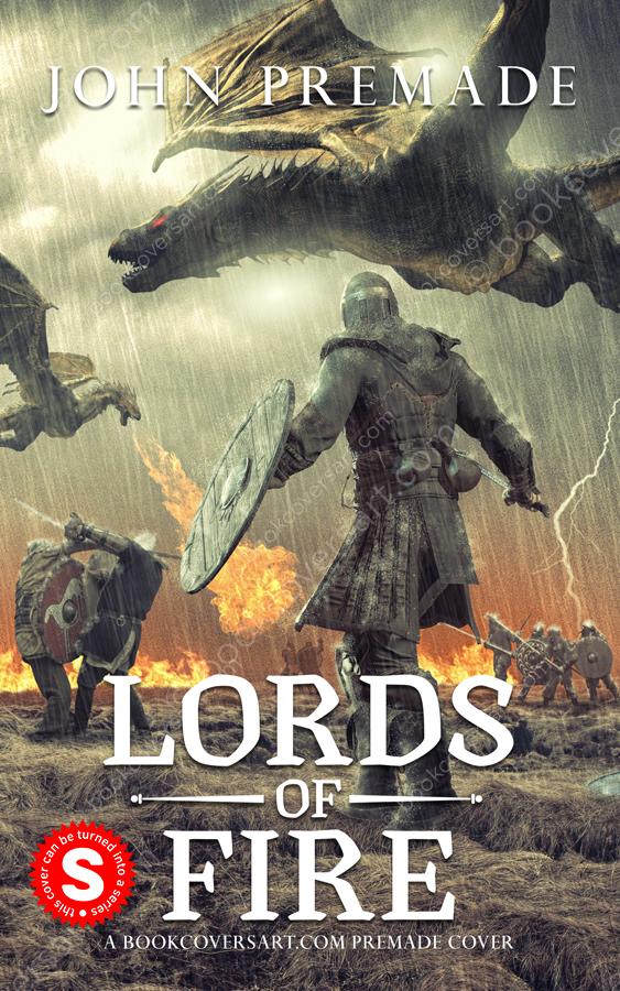 Epic Dark Fantasy Premade Book Cover